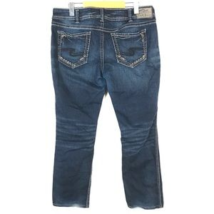 silver elyse mid straight jeans 33x30